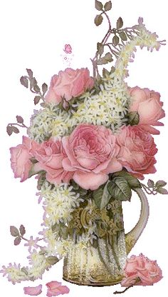 Flower Vase Graphic   Look in the Nook Graphics and Images: Digital art January Calendar PNG ...