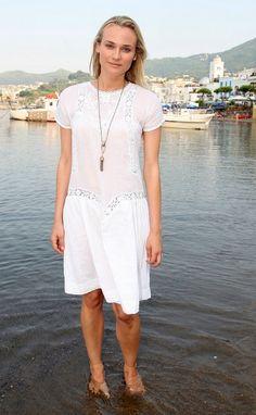 Diane Kruger #style #white #thedreslyngirl