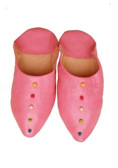 pink babouche slippers