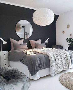 Fascinating Teenage Girl Bedroom Ideas with Beautiful Decorating Concepts - Gallery of fun teen girl bedrooms. See a variety of teen girl bedroom designs & get ideas for themes, furniture, colors and decor. Gray Bedroom, Trendy Bedroom, Bedroom Colors, Home Decor Bedroom, Bedroom Ideas, Bedroom Furniture, Bedroom Modern, Minimal Bedroom, Bedroom Small