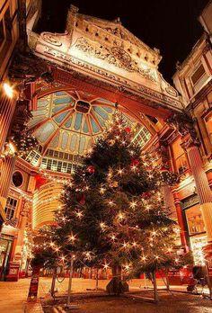 Christmas at Leadenhall Market, London, England. Photo by Rey Martin: https://www.flickr.com/photos/zxof/4182903402/