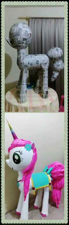 Unicorn Pinata, Unicorn Party, Monster High Crafts, Diy Halloween Gifts, Diy And Crafts, Crafts For Kids, Little Pony Party, Barbie Party, Unicorn Crafts