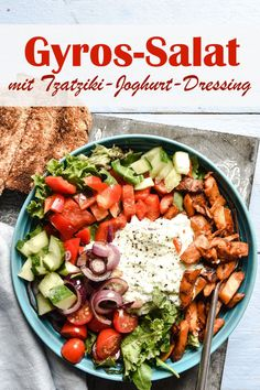Delicious Vegan Recipes, Healthy Salad Recipes, Healthy Chicken Recipes, Seafood Recipes, Beef Recipes, Appetizer Recipes, Vegetarian Recipes, Gyro Salad, Salat Bowl