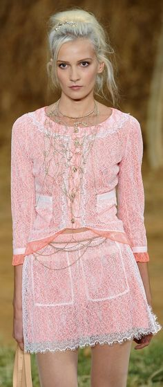 Chanel pink spring outfit!