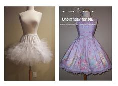 Lolita Petticoat dramatic 5 layer cupcake version by Unbirthday4me