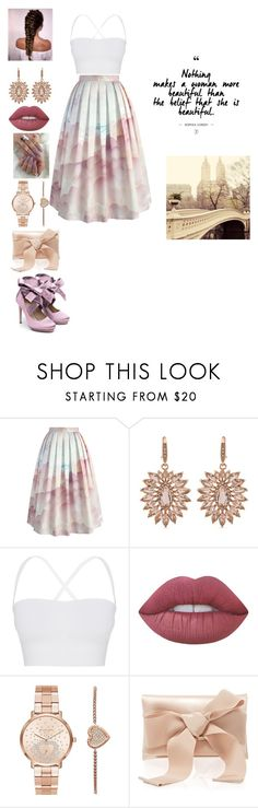 """Untitled #70"" by snowflake39 ❤ liked on Polyvore featuring Chicwish, Carolee, Theory, Lime Crime, Michael Kors, Oscar de la Renta and Liam Fahy"