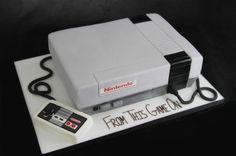 Nintendo Cake colin bday