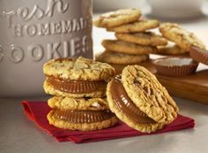 REESE'S Peanut Butter Cup Sandwich Cookies ~ justapinch.com