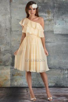 Sheath/Column One shoulder Chiffon Bridesmaids Dress - IZIDRESSBUY.COM at IZIDRESSBUY.com