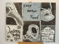 Fifty Shades. Charcoal Abstract Art. Charcoal by JodiLynPaintings