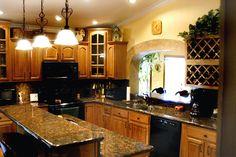 Honey Oak Cabinets Granite Countertops - Bing Images