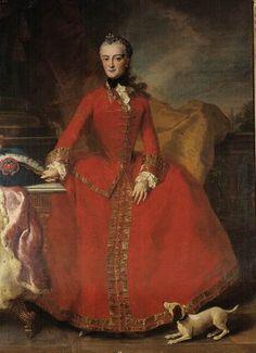 Maria Anna Sophie Sabina Angela Franziska Xaveria of Saxony (1728-1797) by ? (location unknown to gogm)