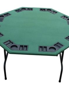 Green Felt Octagon Poker Table Folding Legs 52u2033 From Point To Point (48u2033
