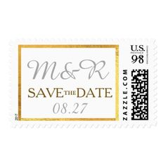 couple initials & wedding day save the date postage - married gifts wedding anniversary marriage party diy cyo