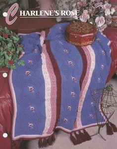 Charlene's Rose Annie's Attic Crochet Quilt & Afghan