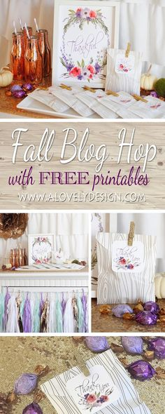 Thanksgiving Printable Blog Hop!  Fall is upon us and that means loads of Holiday gatherings and festivities! Myself and ...