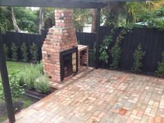 recycled brick outdoor fire and paving