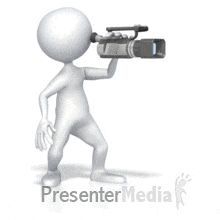 Stick Figure with Digital Video Camera - Animated Clipart for PowerPoint Animated Clipart, Clipart Images, Movie Records, Powerpoint Animation, Film Pictures, Text Background, Action Film, Video Maker, Stick Figures