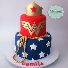 Wonder woman birthday cake for Gracies birthday Wonder Woman Birthday Cake, Wonder Woman Cake, Wonder Woman Party, Birthday Woman, Women Birthday, Cake Birthday, 9th Birthday, Beautiful Cakes, Amazing Cakes