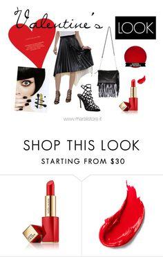 """Valentine's LOOK tips"" by marsilistore on Polyvore featuring moda, Estée Lauder, women's clothing, women, female, woman, misses e juniors"