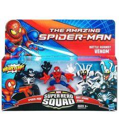 Marvel Super Hero Squad The Amazing SpiderMan Battle Against Venom 3Pack ** Click image for more details.