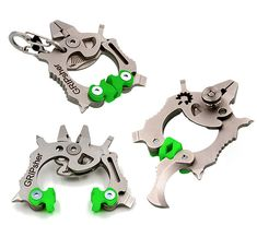 GRIPsher  Designed by an Army vet & an MIT engineer, the compact GRIPsher multi-tool offers a ton of functions in a small but robust tool that fits on your keychain: pliers, wire cutters & stripper, measuring scale, screwdrivers, spoke wrench, locking hex bit driver & more. GRIPsher has also set up a program to give this tool to military vets for free.