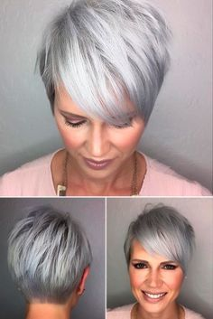 Cropped Stylish Cut with Side-Swept Bangs