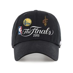 cdc34aa2683 47 Brand Black Golden State Warriors Cleveland Cavaliers 2015 NBA Finals  Dueling Logos Clean Up Adjustable