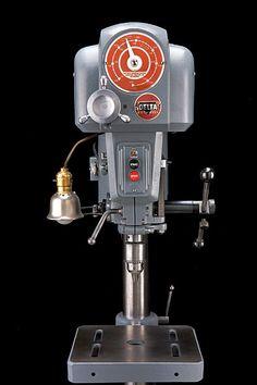 """16"""" delta drill press very nice restoration"""