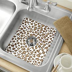Animal Print Sink Mat & Strainer from Ginny's ® | JI63854