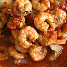 Sambal Udang (Prawn Sambal) recipe - Every bite is bursting with the briny flavor of the prawn, follows by the complex flavor of the fiery sambal, and ends with a citrusy note of the kaffir lime leaves. | rasamalaysia.com