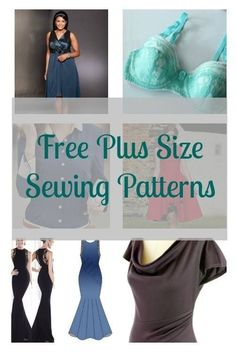 Sewing Techniques Couture Free Plus Size Sewing Patterns - FREE sewing patterns available in plus sizes. Sewing Basics, Sewing Hacks, Sewing Tutorials, Sewing Tips, Sewing Ideas, Dress Tutorials, Basic Sewing, Sewing Blogs, Plus Size Sewing Patterns