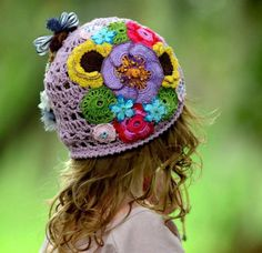 Ideas crocheted summer hats for girls