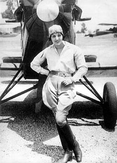 Ruth Elder, American pioneer aviator. Inspired by Charles Lindbergh, she attempted but failed to fly the Atlantic in 1927. Nevertheless she was treated as a hero and went on to successfully promote women in aviation.