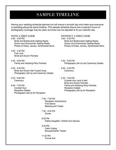 Wedding Day Checklist For The Bride  Groom  ChicagoS Premier