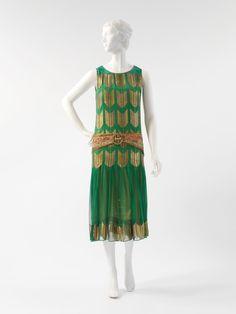 Paul Poiret dress ca. 1924-1925 via The Costume Institute of the Metropolitan Museum of Art