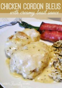 This Chicken Cordon Bleu sauce is ALWAYS a huge hit! We have included a great re… This Chicken Cordon Bleu sauce is ALWAYS a huge hit! We have included a great recipe for Chicken Cordon Blues too, so you have everything all in one place! Recipe For Chicken Cordon Blue, Cordon Blue Recipe, Chicken Cordon Bleu, Cordon Bleu Sauce, Cream Sauce For Chicken, White Sauce Recipes, Tater Tots, Hamburgers, Food Dishes
