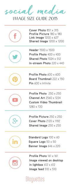 Social Media Image Size Guide