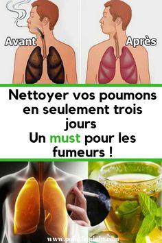 Nettoyez vos poumons en seulement trois jours! Un must pour les fumeurs! #poumon #sante #astuce #soigner #fumer