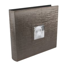 """3-Ring Brown 12"""" x 12"""" Photo and Scrapbook Album - Holds up to 50 pages. Elegant, contoured spine and front window to hold your favorite photo! Perfect for #Scrapbooking. Includes CD pocket and SD memory card pocket on the inside back cover to store your digital photos! (#58010) www.ultrapro.com/creative"""