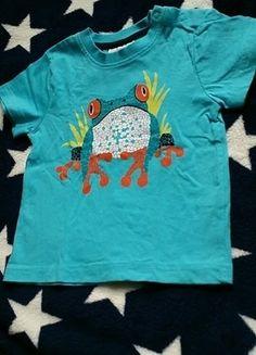 Kaufe meinen Artikel bei #Mamikreisel http://www.mamikreisel.de/kleidung-fur-jungs/kurzarmelige-t-shirts/36942399-t-shirt-74-sommer-frosch-turkis-shirt