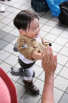 """kawai! Adorable Levi From """"Attack on Titan"""" #Cosplay -- This little guy is the most adorable thing you will ever see related to Attack on Titan! #anime"""