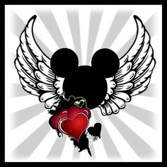 Disney Wings Heart T-shirt 2 - 2709x2709px
