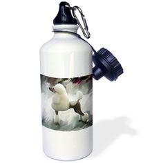 3dRose Standard Poodle, Sports Water Bottle, 21oz