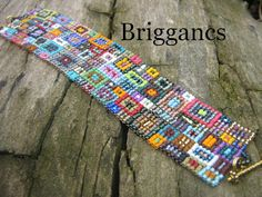 Briggancs: bracelet in multiple colours, just perfect  #beadwork