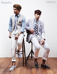 Taecyeon and Chan Sung  ♡ #2PM - Esquire Magazine May Issue '11