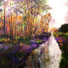 King fishers river by Julie Dumbarton local artist from the Scottish borders at Langholm.