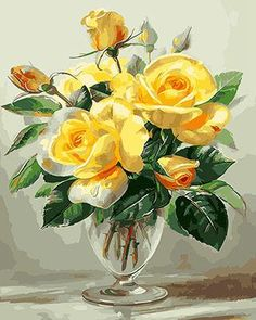 Floral still lifes. The artist Albert Williams . Beautiful Flower Arrangements, Beautiful Flowers, Exotic Flowers, Flower Vases, Flower Art, Cactus Flower, Watercolor Flowers, Watercolor Art, Foto Rose
