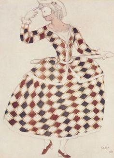 Leon Bakst, Costume design for Arlequin, 1921