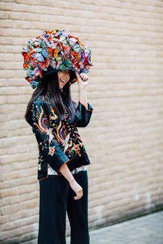 Alexander McQueen, P Treacy Butterfly Hat :: McQueen Savage Beauty exhibit :: Style Bubble 7/2015 :: Kris-Atomic-Susie-Bubble-McQueen-0270